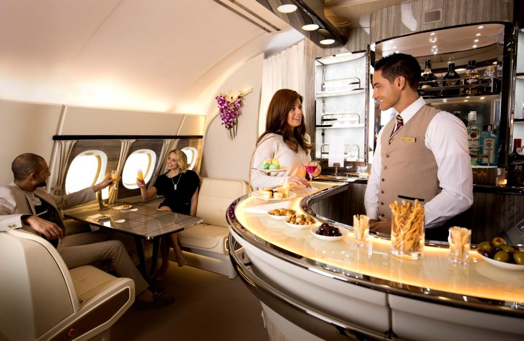 Emirates A380 OnBoard Lounge 02